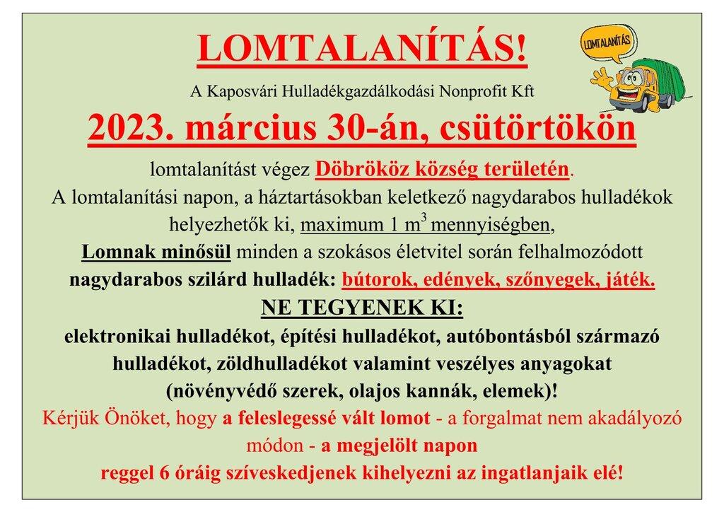 LOMTALANÍTÁS 2020.