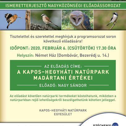 A Kapos-hegyháti Natúrpark madártani értékei